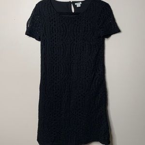 J. Crew Womens 4 Black Shift Dress Short Sleeve